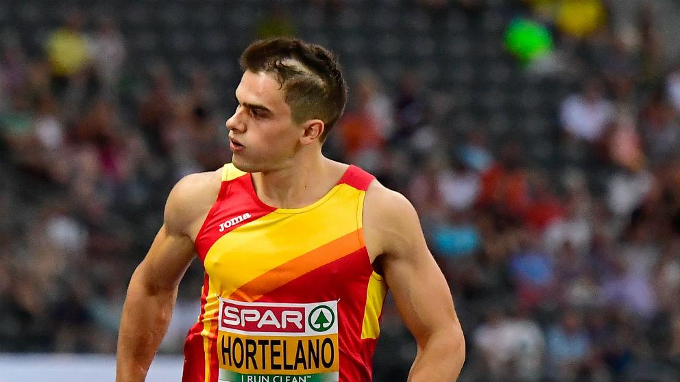 Bruno Hortelano durante una carrera del Europeo de atletismo. (AFP)