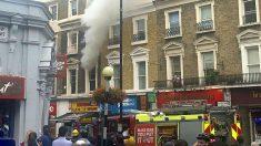Incendio del edificio de Bayswater, en el centro de Londres.