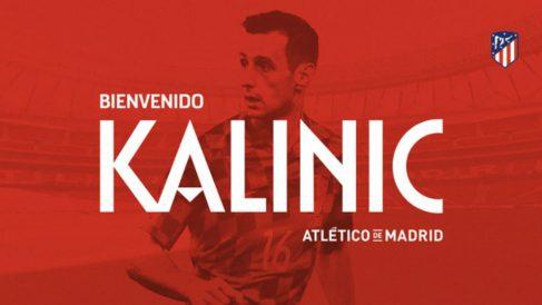 El Atlético hace oficial el fichaje de Niko Kalinic. (atleticodemadrid.com)