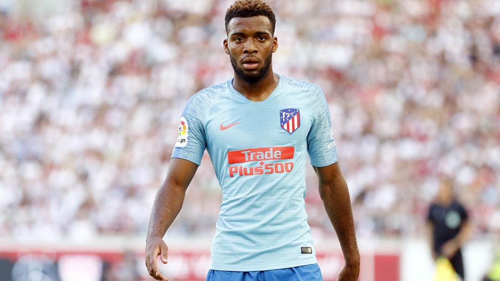 Thomas Lemar, durante un partido de pretemporada con el Atlético de Madrid. (atleticodemadrid.com)