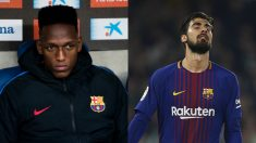 Yerry Mina y André Gomes.
