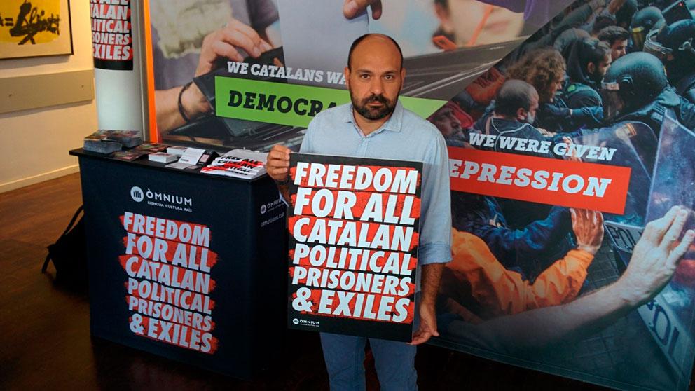 El vicepresidente de Òmnium, Marcel Mauri, en una exposición independentista (Europa Press).