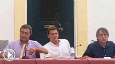 El presidente de Ciudadanos, Albert Rivera, en Menorca.