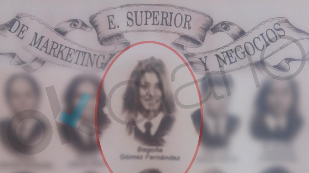 La orla de Begoña Gómez en su escuela no oficial.