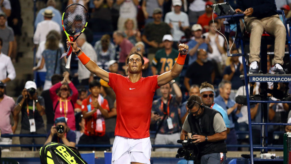 Rafa Nadal celebra una victoria. (Getty)