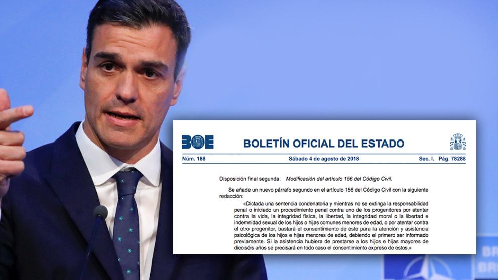 Pedro Sánchez y el Consejo de Ministros aprueban 'decretazo' en materia de violencia de género.