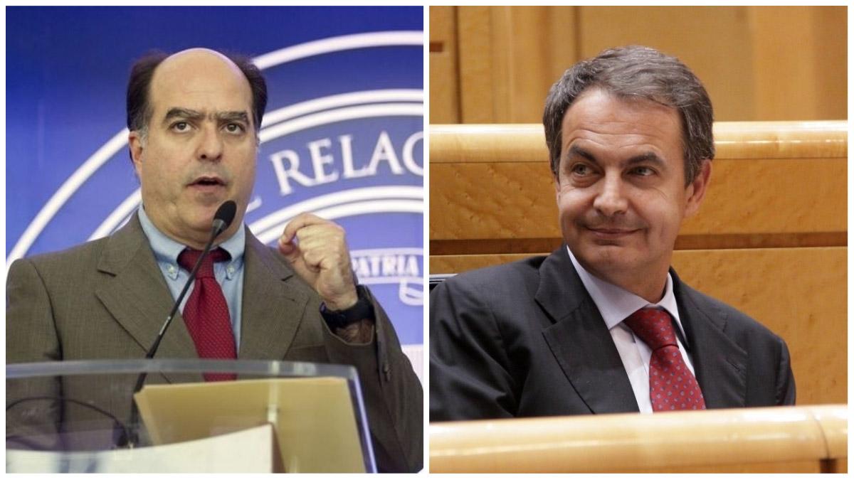 Julio Borges y José Luis Rodríguez Zapatero.