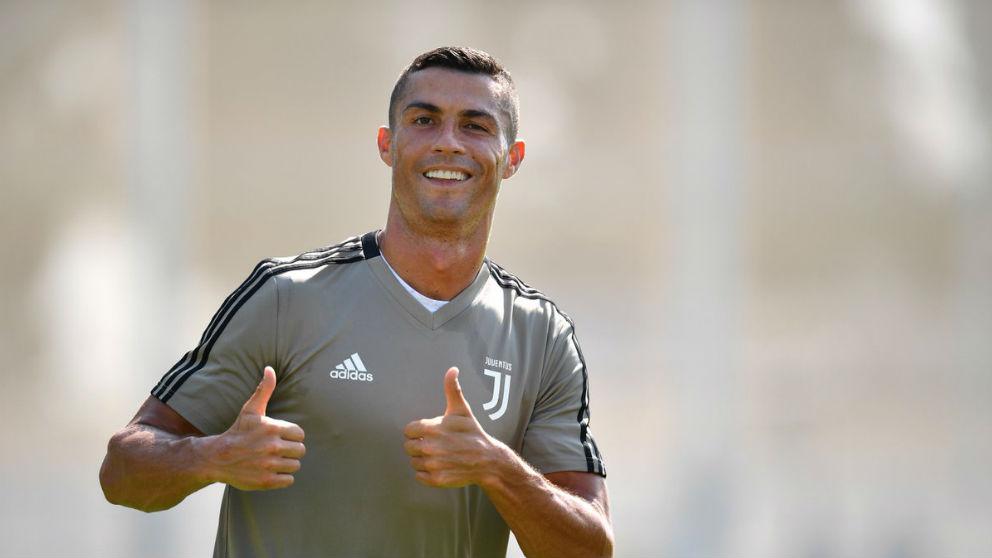 Cristiano Ronaldo, durante un entrenamiento. (Juventus)