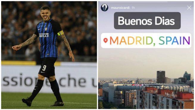 Guiño de Icardi al Madrid: sube una foto del Bernabéu a las redes sociales