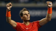 Rafa Nadal celebra la victoria ante Marin Cilic en Toronto. (Getty)