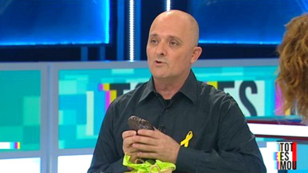 El actor Toni Albà, en un programa de TV3..
