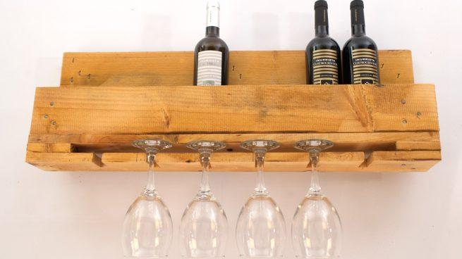 C mo hacer un botellero de madera para vino con palets - Botellero de madera para vino ...