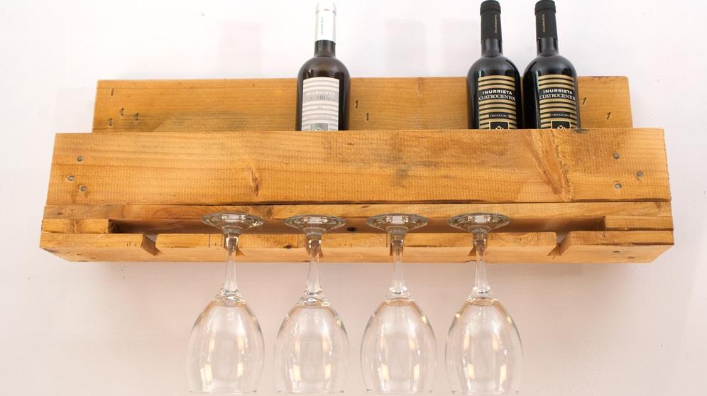 Cómo hacer un botellero de madera para vino