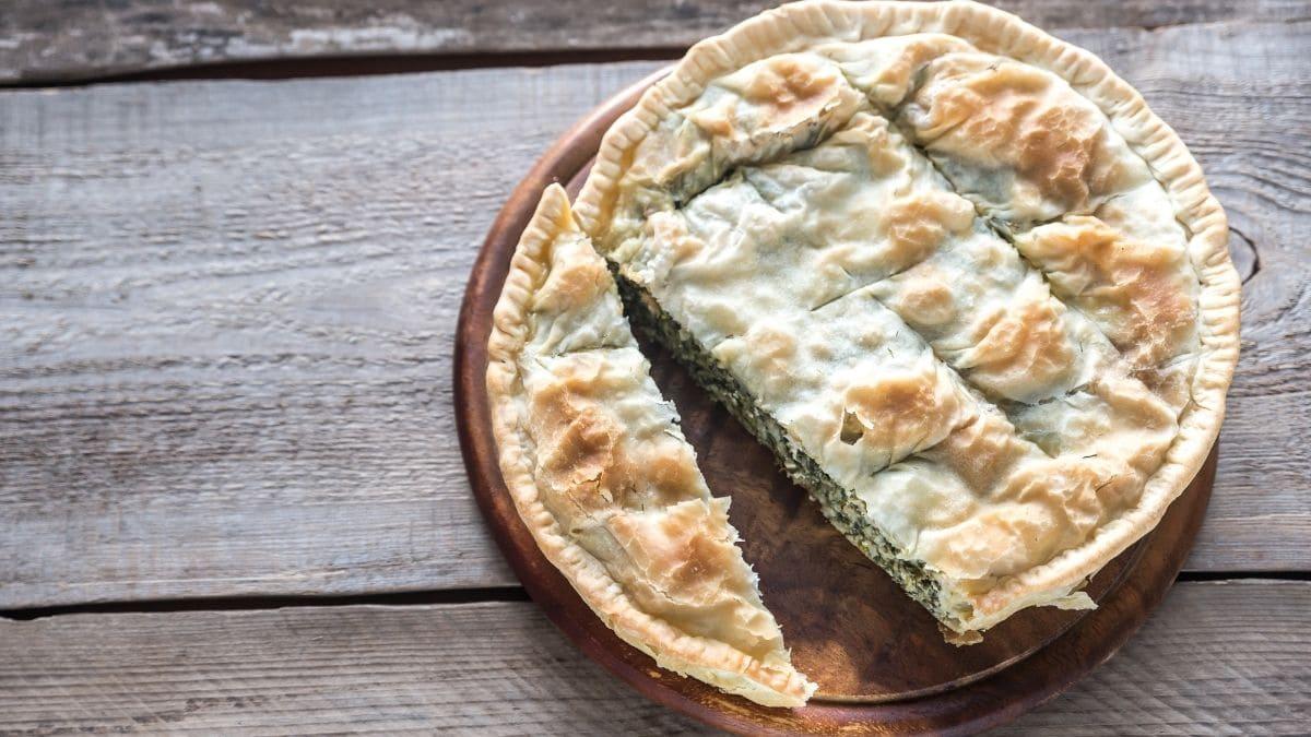 Receta griega de pastel de espinacas y feta