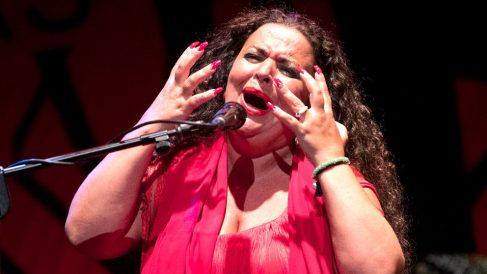 María José Carrasco durante su actuación (Foto: EFE).
