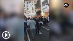 Explota un coche de lujo en Puerto Banús (Marbella).