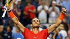 Rafa Nadal celebra la victoria ante Khachanov en el Masters 1000 de Toronto. (Getty)