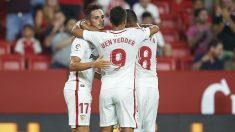 El Sevilla celebra un gol. (Getty)