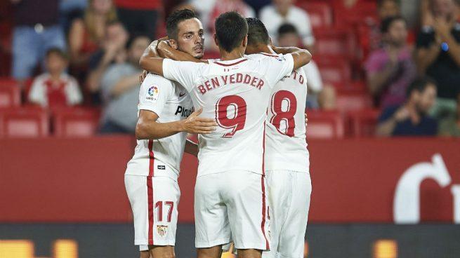Alineación oficial del Sevilla contra el Barcelona en la Supercopa: Muriel, referencia en ataque