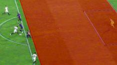 Sarabia estaba en posición legal en el primer gol del Sevilla.