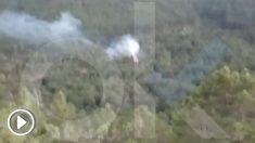 Incendio provocado en el Valle de los Caídos.