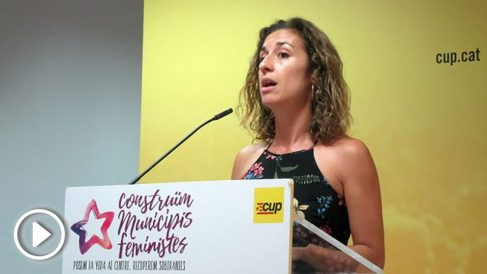 Laia Estrada, dirigente de la CUP. (EP)