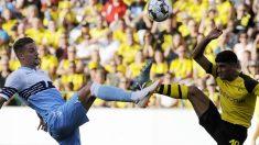 Milinkovic-Savic, durante un amistoso de pretemporada ante el Dortmund.
