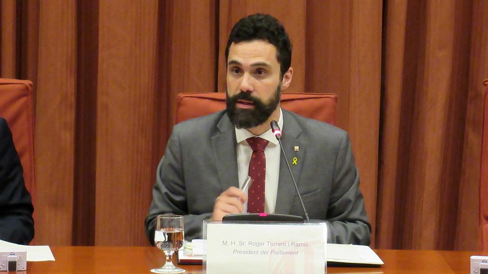 Roger Torrent, presidente del Parlament de Cataluña. (EP)