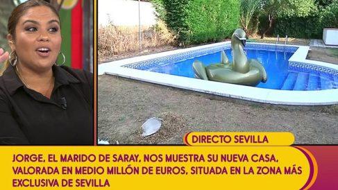 Saray Montoya mostró en 'Sálvame'  su nueva lujosa casa. (Foto: Telecinco)