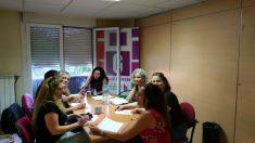 Reunión de miembros de 'Ganemos Alcorcón'. Foto: Twitter.
