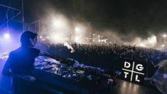 Amelie Lens durante su actuación en el festival DGTL Barcelona 2018