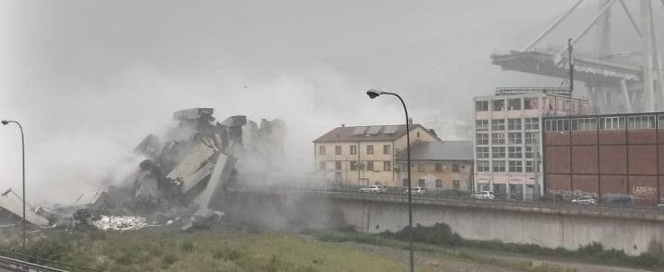 Derrumbe de la autopista en Génova (Italia).
