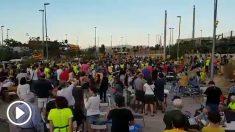 Concentración de independentistas ante la cárcel de Puig de les Basses. / @ERCParets vía Twitter
