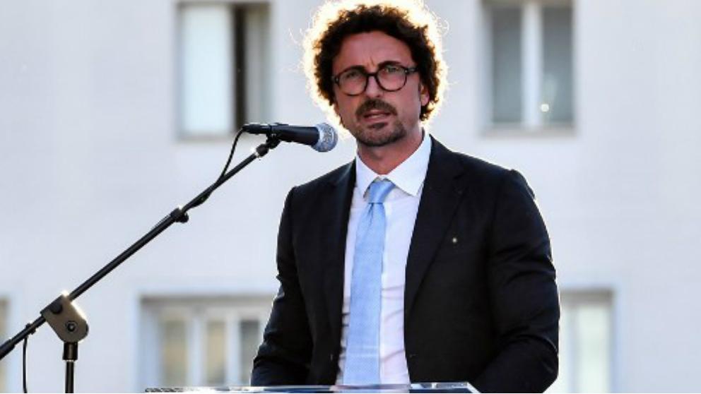 Danilo Toninelli,  ministro italiano de Transportes e Infraestructuras. Foto: AFP