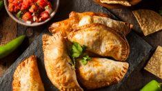 Receta de empanadillas de pollo y setas, un relleno ideal