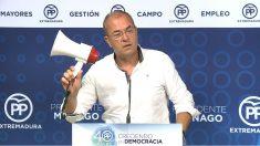 José Antonio Monago, líder del PP en Extremadura. (EP)