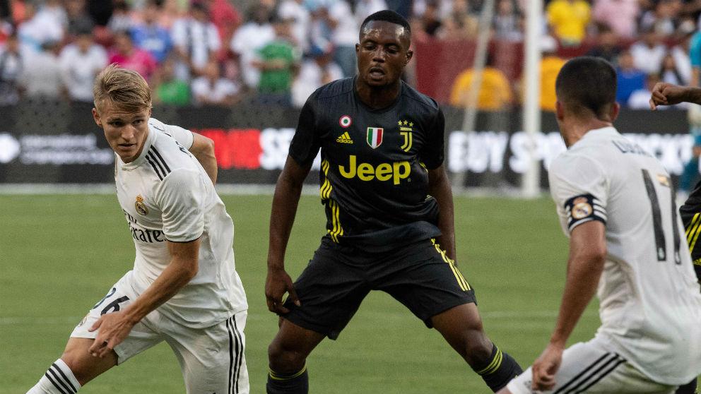 Odegaard, durante el partido con la Juventus. (AFP)