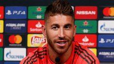 Sergio Ramos, durante la rueda de prensa previa de la Supercopa. (Realmadrid.com)