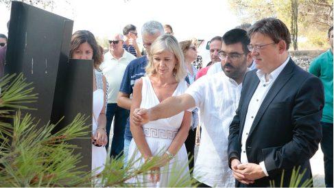 Ximo Puig, presidente de la Generalitat Valenciana, en Alicante reivindicando la memoria republicana. (TW)