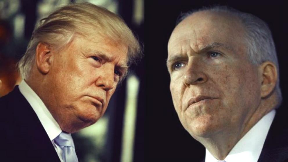 Donald Trump, presidente de EEUU, y John Brennan, ex director de la CIA.