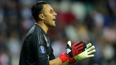 Keylor Navas, durante la final de la Supercopa. (Getty)