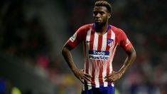Thomas Lemar, durante un partido con el Atlético. (AFP)