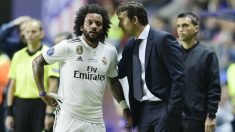 Marcelo, durante la final de la Supercopa. (AFP)