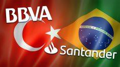 BBVA sufre con Turquía y Santander con Brasil.