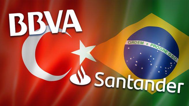 La banca española ha perdido 12.000 millones por las crisis de divisas en Turquía y Brasil
