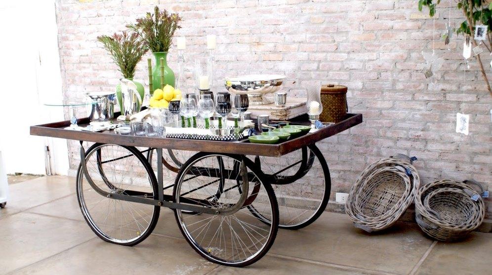 Cómo reciclar ruedas de bicicleta de forma original