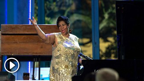 Aretha Franklin durante el concierto del Día Internacional del Jazz en la Casa Blanca. Foto: AFP