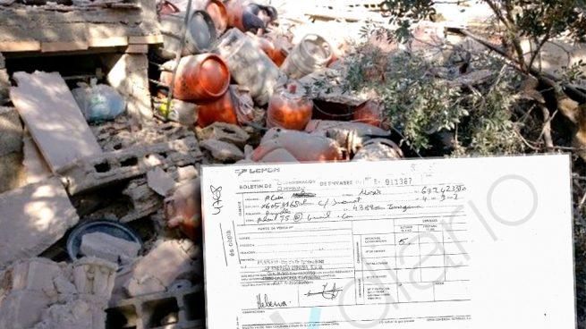 Bombonas de gas halladas en el chalet que estalló en Alcanar. (Foto: Diari de Tarragona / OKDIARIO)