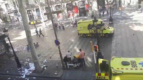 Imagen del atentado yihadista del 17-A de 2017  en Barcelona