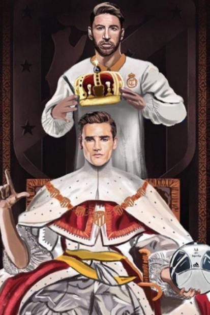 Griezmann la lía en Instagram: se proclama rey del fútbol y 'vacila' a Sergio Ramos